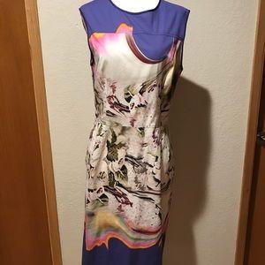 Dresses & Skirts - Vera Wang colorful Sheath Dress, Size 10